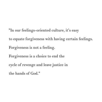 feelings of forgiveness